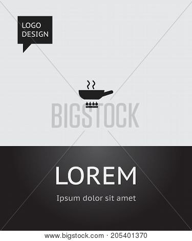 Vector Illustration Of Cooking Symbol On Cooking Pan Icon