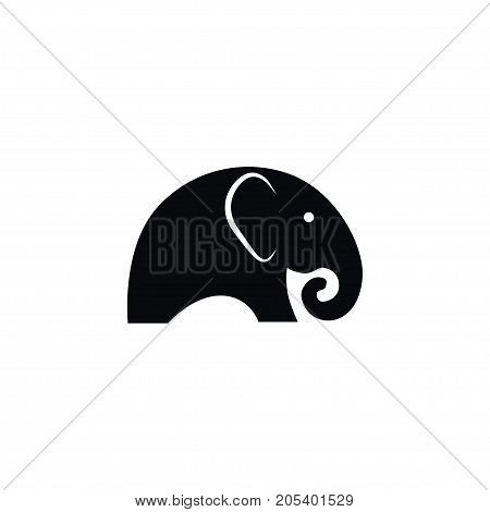 Ivory Vector Element Can Be Used For Ivory, Elephant, Trunked Design Concept.  Isolated Indian Elephant Icon.