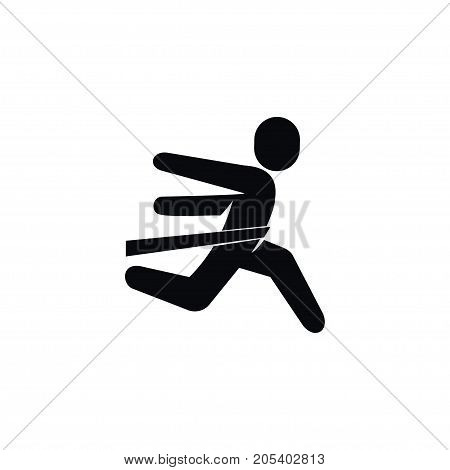 Winner Vector Element Can Be Used For Running, Winner, Sportsman Design Concept.  Isolated Running Icon.