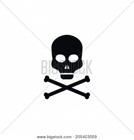 Bone Vector Element Can Be Used For Dead, Skeleton, Bone Design Concept.  Isolated Dead Icon.
