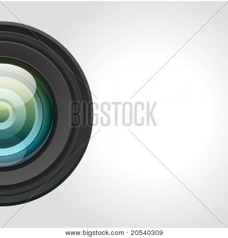 Kamera-Objektiv-Vektor-Hintergrund. EPS 10.