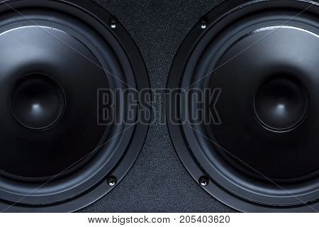 Dark speaker,stereo, studio, system, technology, volume, woof