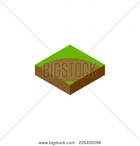 Sand Vector Element Can Be Used For Sand, Turn, Road Design Concept.  Isolated Turn Isometric.