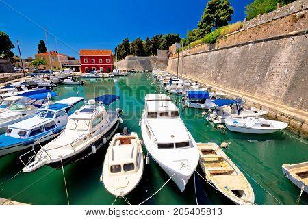 Zadar Defense Walls And Fosa Harbor View