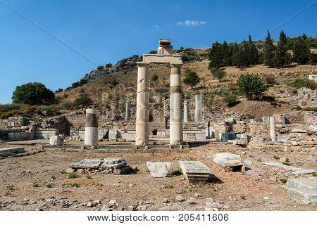 The Prytaneum in Ephesus ancient city, Selcuk, Turkey.