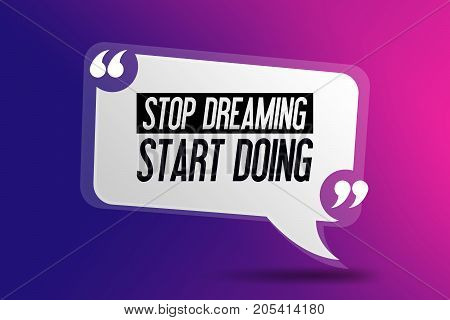 """Motivation - Inspirational quote. """"Stop dreaming start doing"""" Motivated Fit Quote Sport Fitness Gym Typography - Template poster"""
