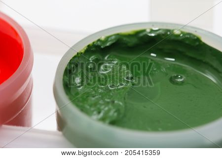 gouache paint. macro . Photo of an abstract texture