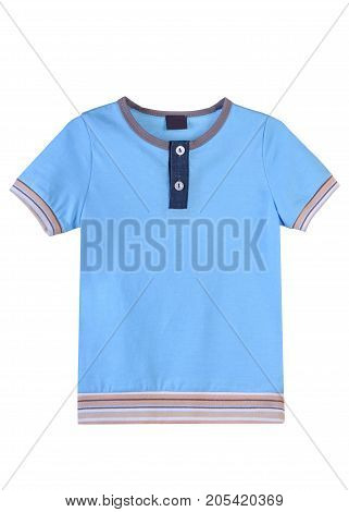 men's t-shirt beautiful light-blue color for walks and sports activities