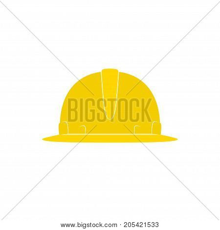 Yellow Working Hard Hat Safety Helmet on White Background Illustration