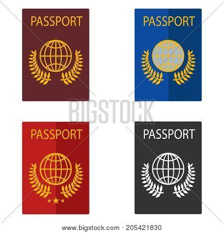 Passport foreign passport. Flat design vector illustration vector.