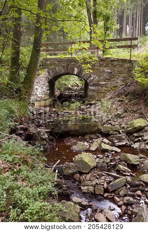 Old Bridge Over Little Stream, Eifel