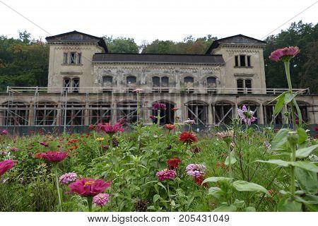 Abandoned Building Of Slechtova Rastaurace In Prague