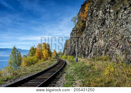 Autumn on Circum-Baikal Railway, Eastern Siberia, Irkutsk region