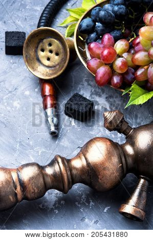 Arabic Smoking Hookah With Grapes
