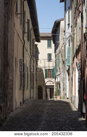 Brisighella (Ravenna Emilia Romagna Italy): old typical street