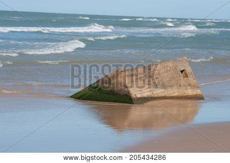 Old Bunker On The Beach In Northern Jutland In Denmark