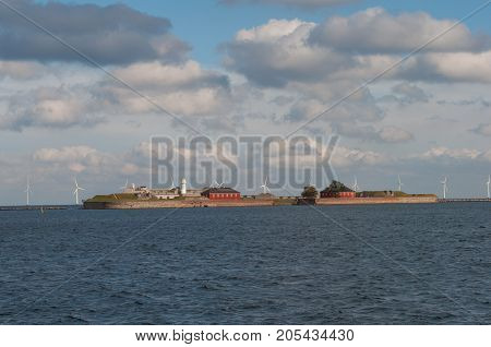 Trekroner Fortress In Copenhagen Harbor In Denmark