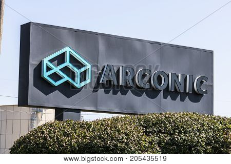 Lafayette - Circa September 2017: Arconic Forging and Extrusion Plant. Arconic was created when Alcoa spun off its jet and auto parts operations IV