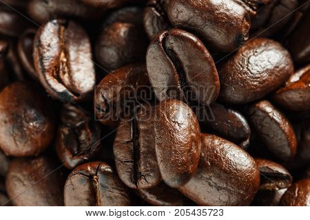 Roasted coffee beans espresso used as background