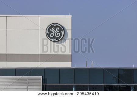 Lafayette - Circa September 2017: General Electric Factory. GE's new CEO is preparing job cuts in a bid to reduce costs XV