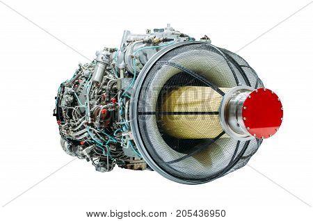 Jet Engine Helicopter, Turbine Isolated White Background