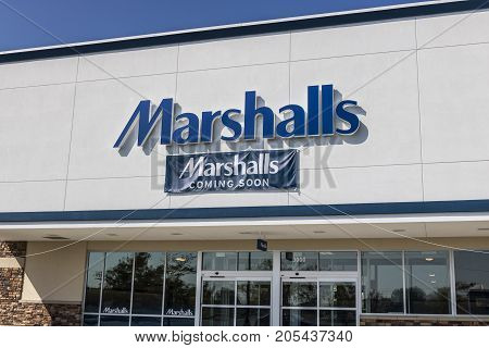 Lafayette - Circa September 2017: Opening Soon -Marshalls Retail Strip Mall Location. Marshalls is a Subsidiary of the TJX Companies III