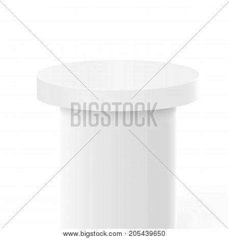 Illustration of Vector Victory Platform Template. 3D Realistic Vector Winner Stage Podium Isolated on White