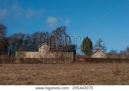 Old Farm In Village Of Norre Tranders In Suburbs Of Aalborg In Denmark