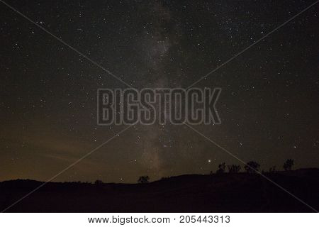 View of the Milky Way Galaxy from the dune climb in Sleeping Bear Dunes National Lakeshore