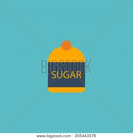 Flat Icon Sugar Element. Vector Illustration Of Flat Icon Sweetener Isolated On Clean Background