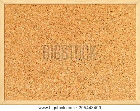 Cork board background with a wooden frame