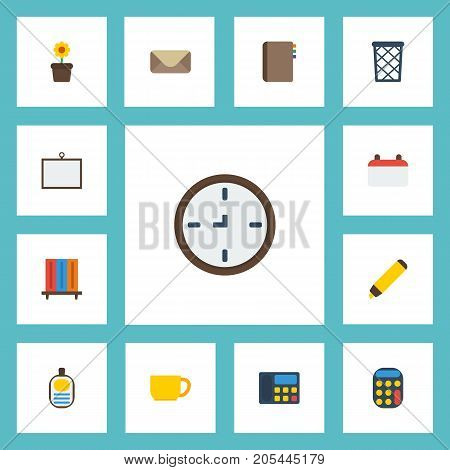 Flat Icons Contact, Whiteboard, Identification And Other Vector Elements
