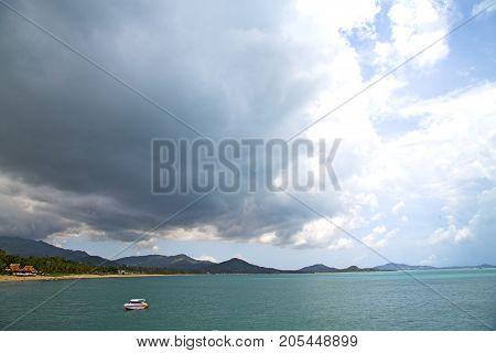 Yacht  Thailand Kho Tao Bay Abstract Of A  Water   South China Sea