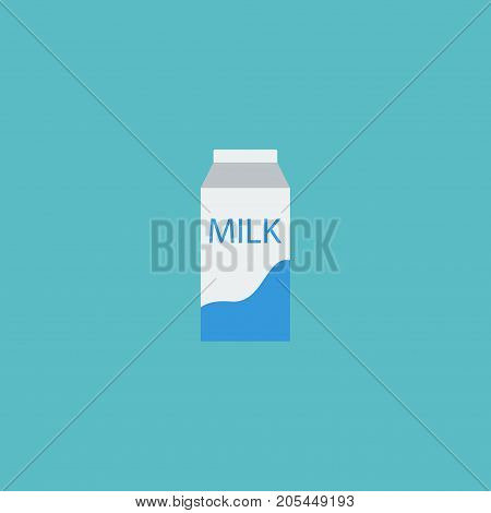 Flat Icon Pocket Milk Element. Vector Illustration Of Flat Icon Paper Box Isolated On Clean Background
