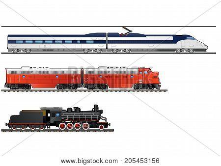 Illustration Of Trains