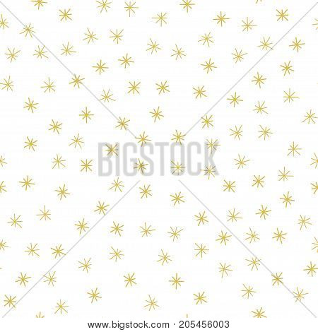 Christmas seamless pattern with snowflakes Vector Illustration