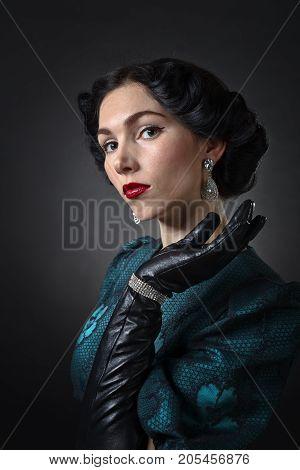 Woman With Diamond Earrings.