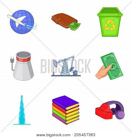 Joint-stock company icons set. Cartoon set of 9 joint-stock company vector icons for web isolated on white background