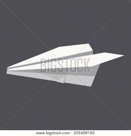 Origami paper plane concept background. Realistic illustration of origami paper plane vector concept background for web design