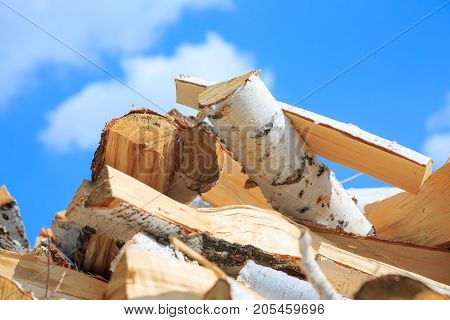 Preparation Of Firewood For The Winter And Use For Cooking, Firewood Background