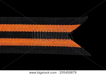 St. George ribbon isolated on white . Photos from the studio