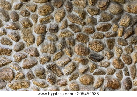 Embed stone in cement wall texture and pattern