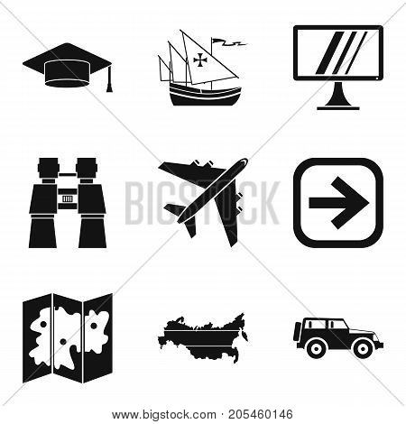 Right way icons set. Simple set of 9 right way vector icons for web isolated on white background