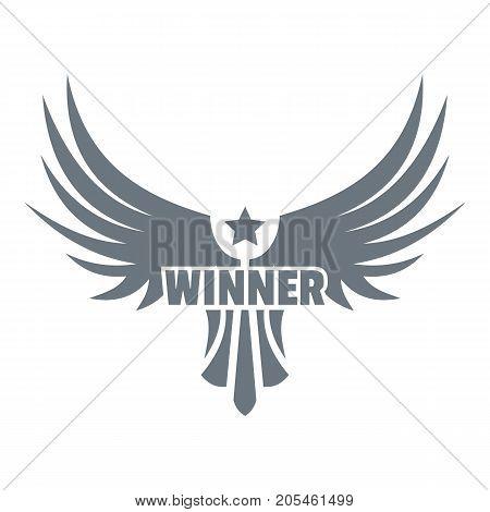 Winner wing logo. Simple illustration of winner wing vector logo for web