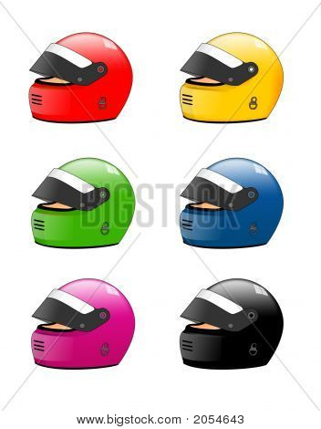 Colored Racing Helmets