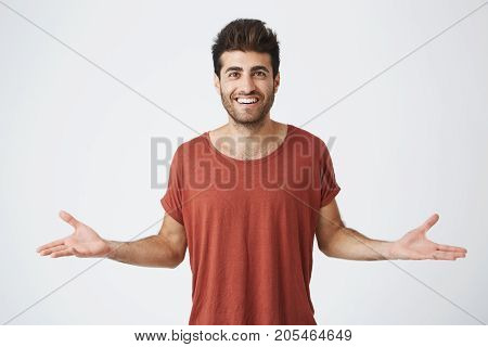 Mature good looking husband excited hearing his wife became pregnant after a long time. Wonderful news for young family