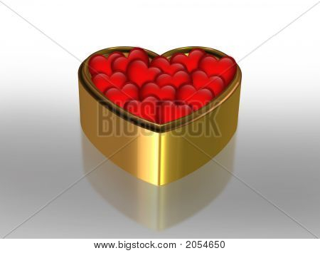 Gold Box Filled With Love