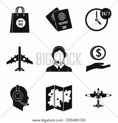 Dispatcher icons set. Simple set of 9 dispatcher vector icons for web isolated on white background