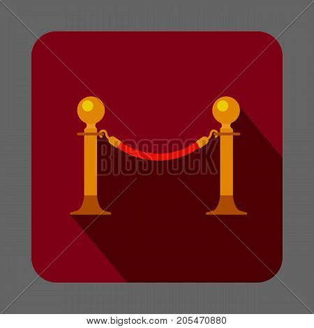 Museum barrier concept background. Cartoon illustration of museum barrier vector concept background for web design