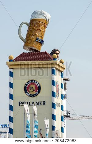MunichGermany-September 242017: View One of the breweries at the Oktoberfest